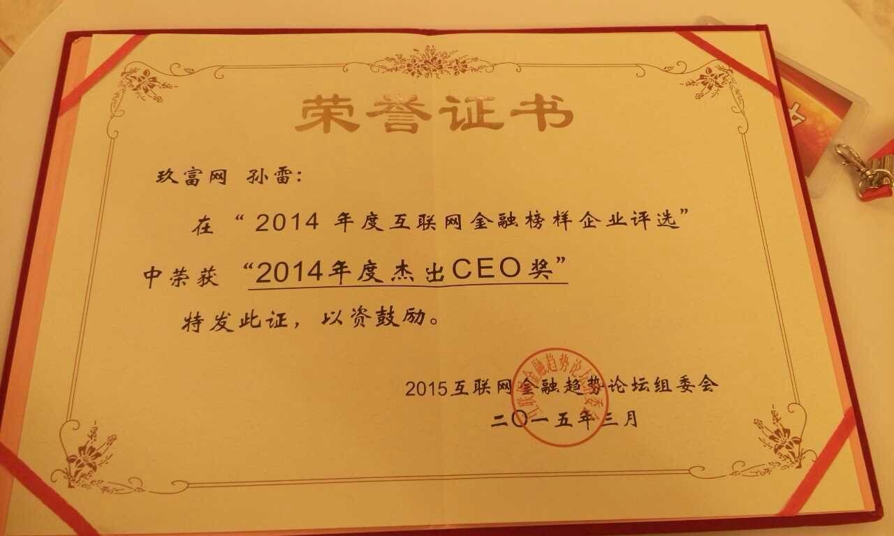 2014年度杰出CEO奖